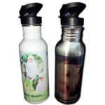 Personalized Sport Flask (Stainless Steel) with Straw
