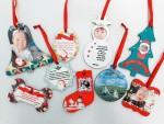Personalized Christmas Hardboard Ornament (1 Set-9pcs)