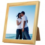 Ceramic Tile with Square Wooden Frame 15cm x 15cm (6 inches)