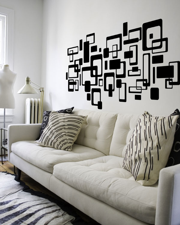 pizzi cube wall decals | wink vinyl room decor - tboox gift creations