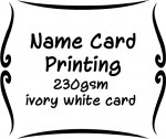 230gsm ivory white card