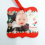 Personalized Christmas Hardboard Ornament Polygon