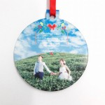 Personalized Christmas Hardboard Ornament Ball