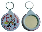 Personalized Button Badge Keychain (Mirror) 44mm