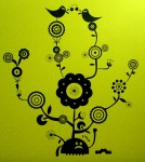 Tree Flower 1 Wall Decals