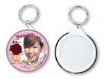 Personalized Button Badge Keychain (Mirror) 58mm