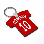 Personalized Wooden Key Chain - Tshirt