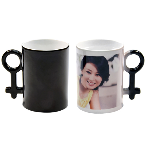 Personalized Couple Magic Mug Black Tboox Personalized