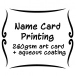 260gsm art card  + aqueous coating