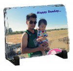 Personalized Photo Rock - Rectangle Stone - Medium